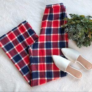 Vintage Pendleton High Waisted Wide Leg Plaid Pant
